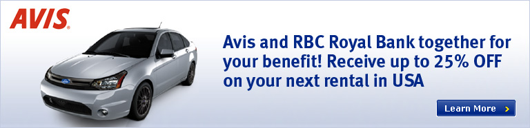 Avis and RBC Royal Bank together for your benefit!