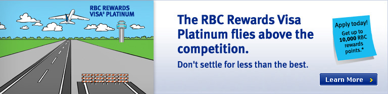 RBC Rewards Visa Platinum flies above the competition