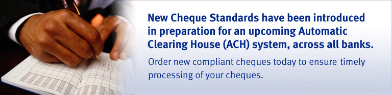 Cheque Standards required by ECCB