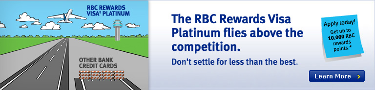 RBC Rewards Visa Platinum flies above the competition!
